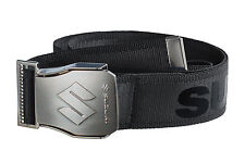 Suzuki Team Mens Stylish Accessory Belt Polished Metal Buckle Black 130cm