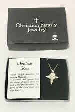 Christmas Rose Pendent Christian Family Jewelry
