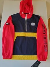 Tommy Hilfiger 1/4 Zip Color Block Windbreaker  size XL