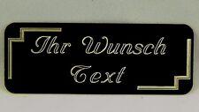 Namensschild Messing  schwarz Hochglanz lackiert  80x30 mm incl. Gravur