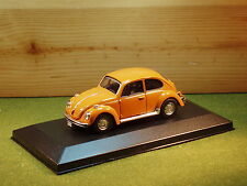 Cararama Volkswagen Beetle in Orange in perspex case 1/43rd Scale