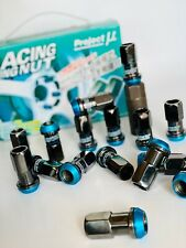 UK STOCK Viola-EPMAN RACING IN ACCIAIO RUOTA Acorn Lug Nuts-JDM-M12 x 1.5