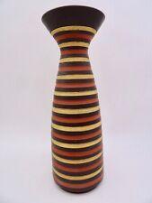 Josef Duck Hillscheid Klinker Keramikvase seltenes Dekor 50er Design midcentury