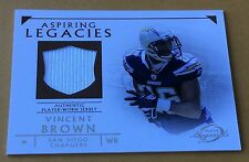 2011 Topps Football Vincent Brown Jersey Patch Card