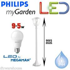 Philips Massive mi jardín Creek Led 9,5 w Post luz 1 Metro De Jardín Blanco Lámpara