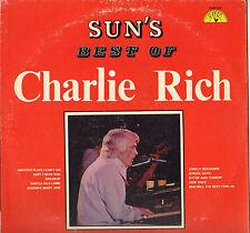 """CHARLIE RICH """"SUN'S BEST OF"""" 70'S LP USA, SUN 135"""
