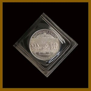 Haiti 25 Gourdes Silver Coin, 1973/ 1974 KM# 112 Bicentenary 1776-1976 Of The US