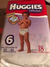 Vintage Huggies Size 6 Diapers From 2000 18 Count From A Sealed Pack