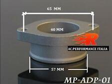 "adattatore piastra connettore VALVOLA POP OFF blow valve adaptor flange 57 2,5"""