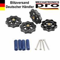 4x Spannfeder mit Senkkopfschraube Rad für Heizbett CR-10, Ender 3, 3D-Drucker