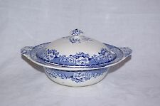Vintage Vegetable Tureen Peony Blue & White  Britannia Pottery Glasgow Scotland