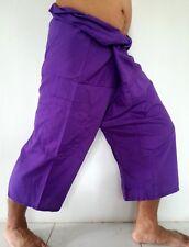 YOGA Massage Thai Fisherman Trousers Pants 3/4 Length Pocket Wrap Men & Women