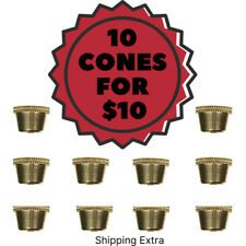 10 x Cone Pieces - Brass cone Piece - Bonza Bucket Billy Metal Cones - ON SALE