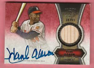 Hank Aaron 2012 Topps Five Star Baseball Bat Relic Autograph /55 Milwaukee Brave