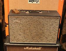 Vintage 1967 Selmer Vanguard Negro Plata 15w Válvula Amplificador con Pedal de menta