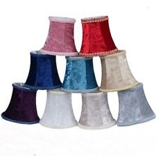 Small Lampshade Crushed Velvet Lamp Drum Shade Table Ceiling Light Cover Vintage