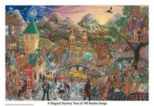 THE BEATLES - MAGICAL MYSTERY TOUR - 100 SONGS POSTER - 22x32 MASSE ART 159209
