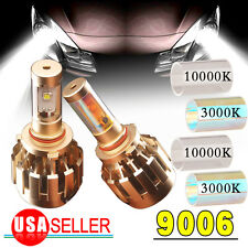 2x 80W Gold 9006 HB4 LED Headlight Conversion Kit Bulbs HID 6000k White US