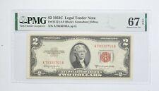 1953-C $2 FR#1512 (AA Block) Red Seal Graded PMG - 67 EPQ Legal Tender *803