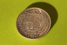 More details for 1887 queen victoria jubilee head solid silver half crown ef (?)
