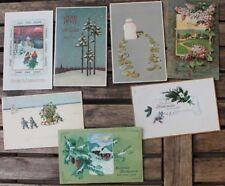 30013 7 alte Postkarten AK Weihnachten Neujahr um 1910 farbig Kitsch geprägt