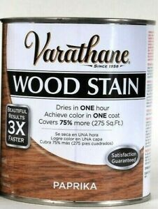 1 Can Varathane 32 Oz Ultimate Wood Stain One Coat 266175 Paprika Dry In 1 Hour