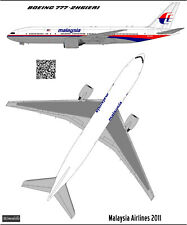 Boeing 777-200  Malaysia Airlines decal 1144