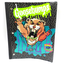 """Goosebumps Notebook, Vintage 90s RL Stine Collectible 10.5 x 8"""" Writing Pad"""