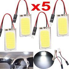 5x White 48 SMD COB LED T10 4W 12V Car Interior Panel Light Dome Lamp Bulbs