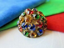 5761-D8 – 24 Colorful Claw Set Jewel Button from Collection of Mrs. Harry Wessel