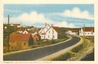 Yarmouth Nova Scotia~Wedgeport Village~Curved Highway Thru Town~Homes~Barn~1940