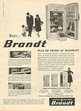 Publicité 1959  BRANDT réfrigérateur congélateur