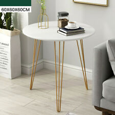 H70 White Round Coffee Tables Sofa Side Nested End Table Living Room
