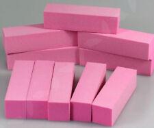 10pcs Nail Buffer Sanding Block UV GEL Manicure Pedicure Tool Purple Pink