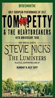 TOM PETTY 40TH ANNIVERSARY TOUR / STEVIE NICKS - ONLY EUROPEAN SHOW OF 2017