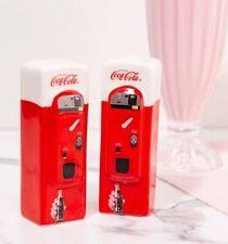 Official Ceramic Coca-Cola Vending Machine Salt And Pepper Shakers