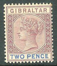 Gibraltar 1898 marrón-púrpura/azul ultramar 2d SG41 Perfecto