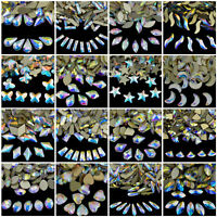 Top Czech AB Crystal Flatback Rhinestone Nail Art Decoration DIY Multi-Shape