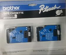 NEW Brother P-Touch TC-20 Black On Clear Laminated Label Tape Cassette 2 PACK