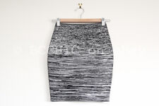 ALEXANDER WANG 'jacquard jersey mini skirt' black white pattern bodycon short XS