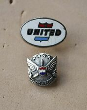 United Airlines &  long Service pin badges  USA states Airways maybe silver