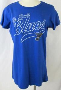 "St Louis Blues Women XL Distressed Screened ""ST LOUIS BLUES"" T-shirt ASLB 27"