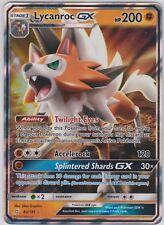 Pokemon Tcg Sm Team Up 82/181 Lycanroc Gx Holographic Rare Card