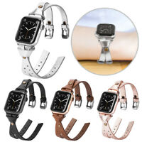 Leather Bracelet Watch Band Strap For Apple iWatch Series 6/5/4/3/2/1 38mm-44mm