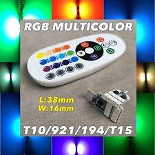 RGB LED Reverse Backup Light Multi color Remote T10 T15 921 175 194 168 W1 A
