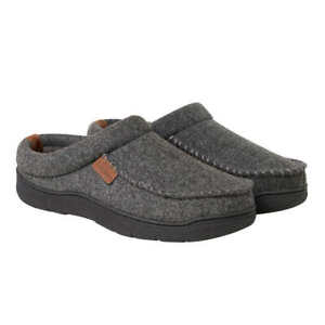 Dearfoams Men's Slip-On Slippers Indoor Outdoor Clog Slipper Dark Heather NWOB