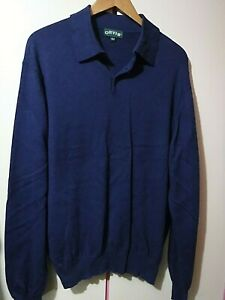 Mens ORVIS Cotton, Silk & Cashmere Long Sleeve Top   ..  Large