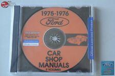 1975-76 Ford Car Shop Repair Manuals 5 Volumes CD Rom Disc PDF New