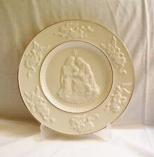"Exquisite 10-1/8"" Lenox China Nativity Plate~Rare Prototype~ Ivory w/Gold Trim"