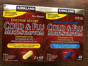 Kirkland Daytime Nighttime Severe Cold & Flu Multi-Symptom Caplets, 168 Caplets